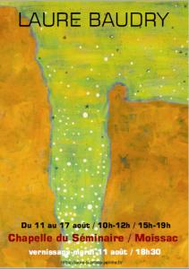 affiche exposition Laure B août 2020