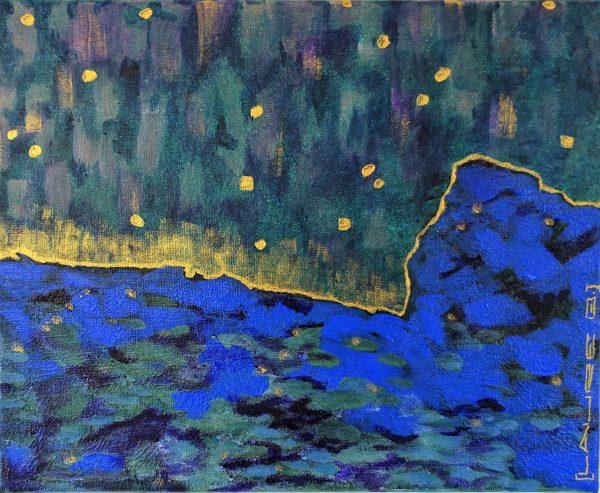 petit format paysage nocturne aurores boréales